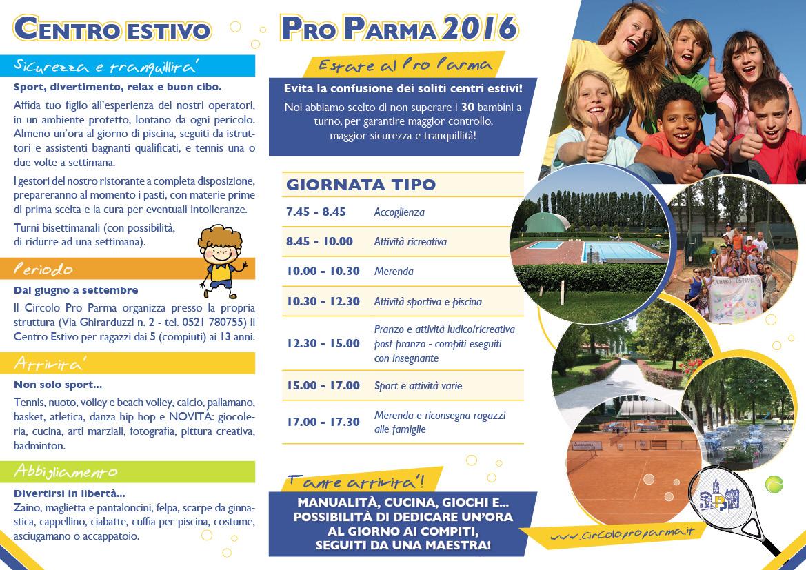 Centro estivo estate 2016 circolo pro parma for Circolo bdr soggiorni estivi